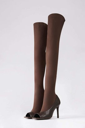 Camilla And Marc Alexis Peep Toe Stocking Boot