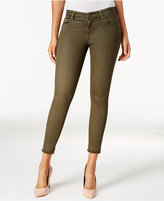 KUT from the Kloth Connie Frayed Olive Wash Skinny Jeans