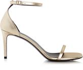 Saint Laurent Jane grained-leather sandals
