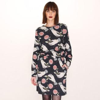 PepaLoves Pepa Loves - Hand Print Knee Length Dress - S