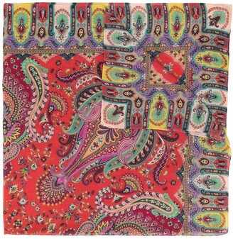 Etro Paisley-Print Cashmere Scarf
