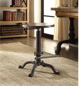 Carolina Cottage Justin Adjustable Height Chestnut and Black Bar Stool
