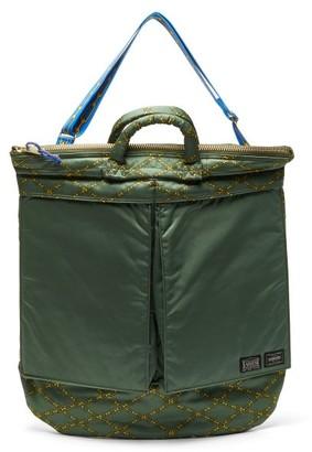 Aries X Porter Chain-print Tote Bag - Womens - Khaki Multi
