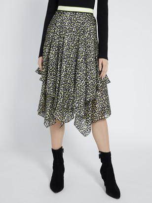 Alice + Olivia Tarina Neon Midi Skirt