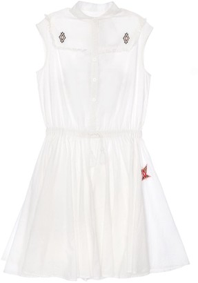 Zadig & Voltaire Cotton Dress W/ Embroidered Detail