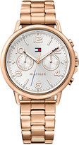 Tommy Hilfiger Women's Casual Sport Rose Gold-Tone Stainless Steel Bracelet Watch 38mm 1781733