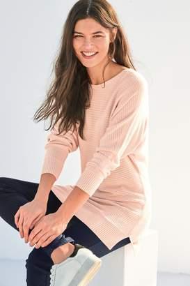 Next Womens Pink Cosy Rib Tunic - Pink