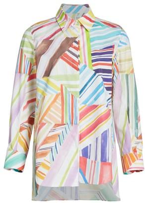 Rosie Assoulin Printed Button-Up Shirt