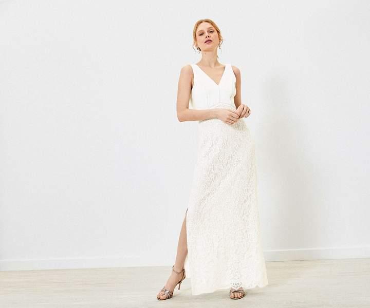 Oasis Cowl Lace Wedding Dress