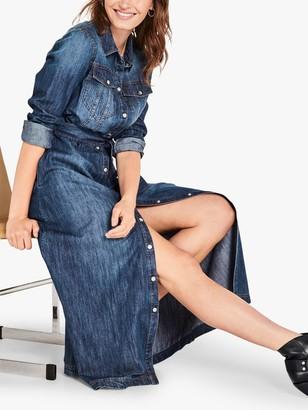 Hush Emily Denim Maxi Shirt Dress, Blue