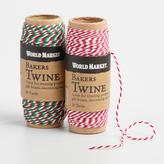 Cost Plus World Market Red and Green Baker's Twine Set of 2
