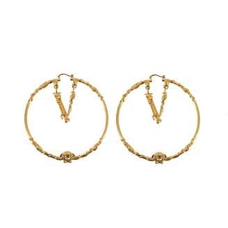 Versace Hoop Earrings With Virtus Logo