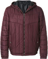 Versace matelassé hooded jacket