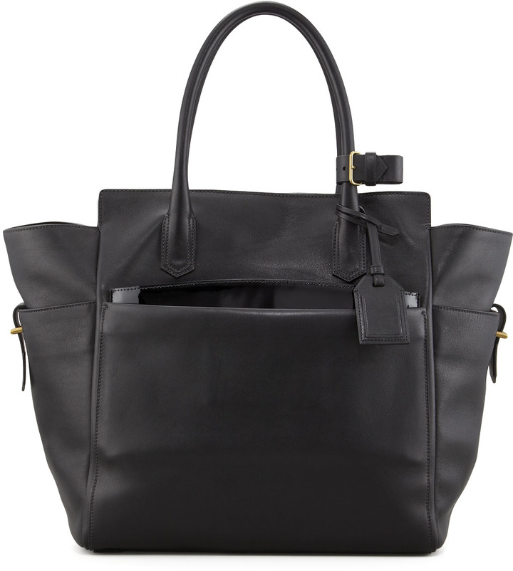Reed Krakoff Atlantique Tote Bag with Patent Pouch, Black