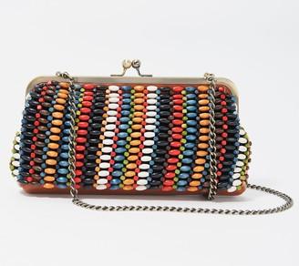 Patricia Nash Leather Beaded Frame Handbag - Potenaz