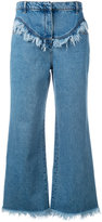 Philosophy Di Lorenzo Serafini - frayed flared jeans - women - Cotton - 38