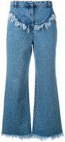 Philosophy Di Lorenzo Serafini - frayed flared jeans - women - Cotton - 40