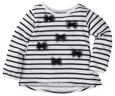 Gerber Graduates® Toddler Girls' Striped Top with Bows - Black