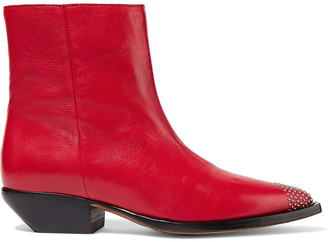 IRO Santiago Studded Leather Ankle Boots