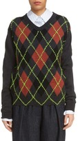 Acne Studios Women's Vinia Argyle Wool & Mohair Sweater