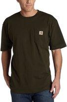 Carhartt Men's Workwear Pocket Short Sleeve T-Shirt Original Fit K87,Heather Grey