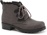 Trotters Gray Combo Snowflakes III Ankle Boot