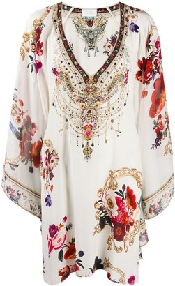 Camilla Fary Godmother-print silk dress