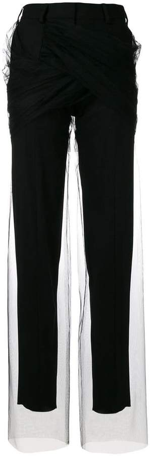 Y/Project Y / Project tulle embellished trousers