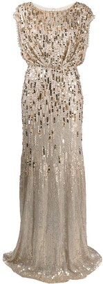 Jenny Packham Tupelo sequin-embellished gown