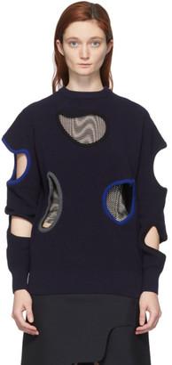 Toga Navy Hole Sweater