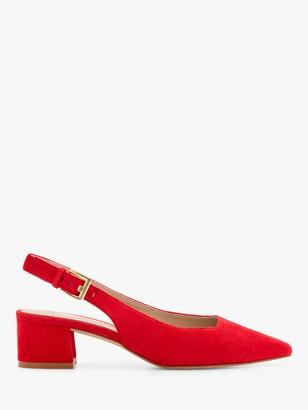 Boden Nadine Slingback Block Heel Suede Court Shoes