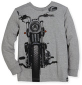 Molo Rickey Biker Pullover Sweatshirt, Gray, Size 4-12