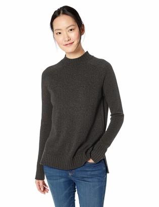 Daily Ritual Amazon Brand Women's Wool Blend Mock-Neck Tunic Pullover Sweater
