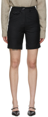 ANNA QUAN Black Wool Patsy Shorts