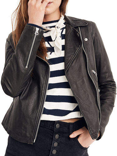 9005d8f1b Washed Leather Moto Jacket