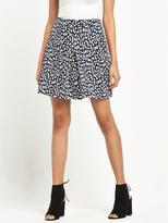 Warehouse Animal Print Skirt - Monochrome