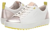 Ecco Soft Metallic Hydromax(r) (White) Women's Golf Shoes