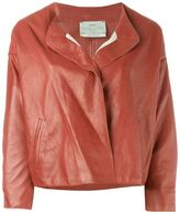 Forte Forte collarless leather jacket - women - Cotton/Leather/Cupro/Viscose - 1
