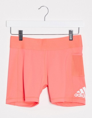 adidas Training booty shorts in pink