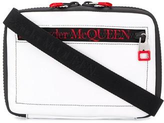 Alexander McQueen zipped messenger bag