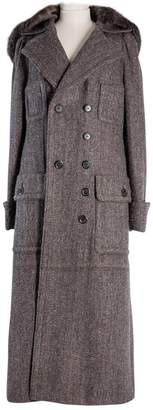 Louis Vuitton Brown Wool Coats