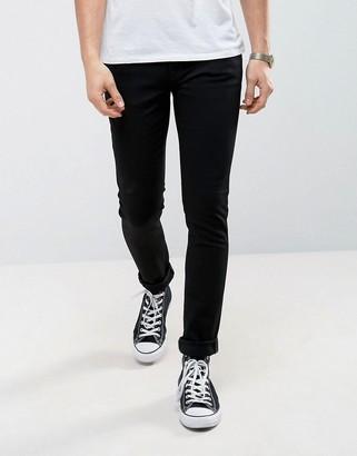 Nudie Jeans Skinny Lin skinny fit jeans in black