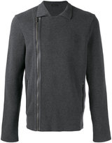 Z Zegna asymmetric zipped jacket - men - Cotton - L