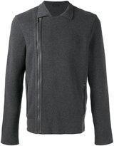 Z Zegna asymmetric zipped jacket - men - Cotton - M