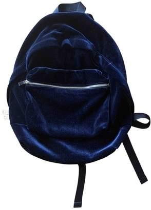 Sandro Blue Velvet Backpacks