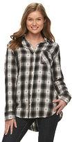 Mudd Juniors' Flannel Button-Down Shirt