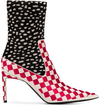 Haider Ackermann patterned ankle boots