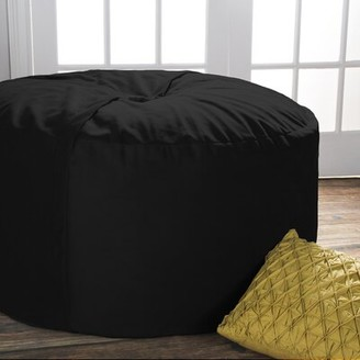Large Bean Bag Chair & Lounger Latitude Run Upholstery Color: Black