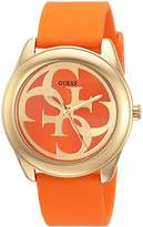 GUESS Women's Stainless Steel Casual Silicone Watch