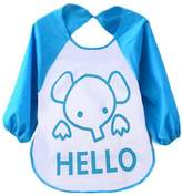 FEITONG Cute Kids Child Baby Cartoon Translucent Plastic Soft Baby Waterproof Bibs